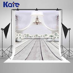 White Gauze Tent and Flower Pot Droplight Photography