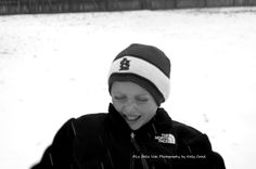 Snow photo session, black and white snow session