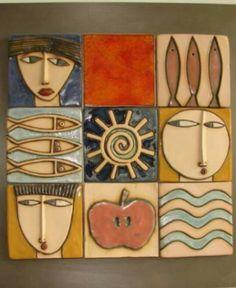 Wandkunst - my Beloved Pottery - Holz Ceramic Wall Art, Ceramic Clay, Wood Wall Art, Ceramic Pottery, Wall Art Decor, Clay Projects, Clay Crafts, Wal Art, Inspiration Artistique