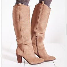 🍂PerfectForFall🍂DV by DolceVita Myste Taupe Boot Absolutely Gorgeous!  DV by DolceVita Myste Taupe Boot • Size 8 • Nearly New • Warn two times • Couple water marks from Suede treatment but in perfect condition • It pains me to get rid of these • Just a little too small for me Dolce Vita Shoes Heeled Boots
