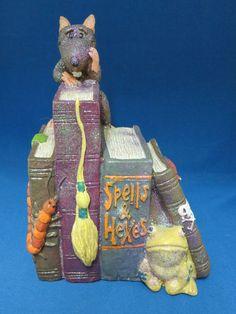 Halloween Spells Hexes Books Figurine Decoration Rat Spider Creepy Scarey New
