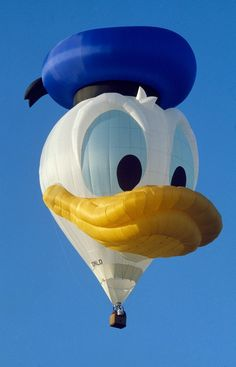 And not to be outdone, in 1987 Donald Duck had a hot-air balloon created of his likeness dubbed the ZIP-A-DEE-DOO DUCK. Weighing 446 pounds and created by the same company, ZIP-A-DEE-DOO DUCK weighed 50 percent more than the EARFORCE ONE. Donald's bill was 21-feet long and 54-feet wide.