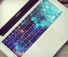 Galaxy MacBook keyboard stickers skin space stars universe celestial keyboard skin sticker vinyl MacBook keyboard decal