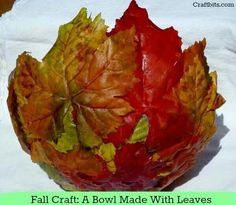 Fall leaf bowl dyi  idea