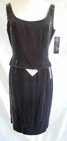 c0a95f4afd1 Deadstock NOS with Tag Albert Nipon Velvet Skirt   Camisole Vintage Bustier  4