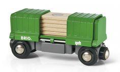 Brio : Wagon Porte Conteneur - Castello | Jeux et Jouets