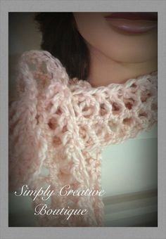 Crochet hairpin lace scarf by SCreativeBoutique on Etsy, $22.00