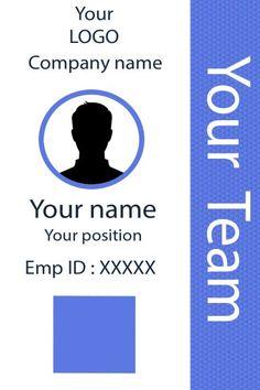 ID Card twentytwo Front Id Card Template, Card Templates, Identity Card Design, Employee Id Card, Free Id, Id Design, Card Organizer, School Subjects, Paper Flowers Diy