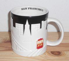 2012 Starbucks San Francisco Collector Series Coffee Mug Cable Car Bridge NEW #Starbucks