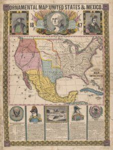 ornamental map of the united states mexico barritt sc cartographer additional names barritt william b 1822 engraver published date
