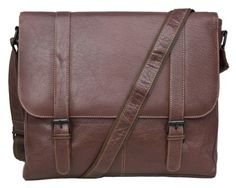 Tribal Leather Satchel Messenger -  Made from a high grade of buffalo leather. The leather used is an aged leather also known as Tribal due to the heavy grain affect. A classic messenger style messenger bag and colour, will age beautifully with use. The front has a large flap which is cleverly secured by two concealed magnetic studs which is large and accessible. The main compartment also has a padded laptop area secured by a velcro tab.