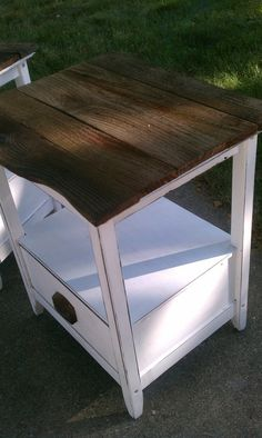 Particle Board Nightstand Makeover - SissyDec@gmail.com