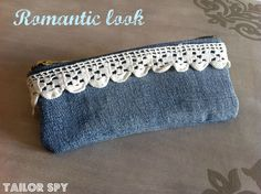 Denim - Etui/kant Clutch/Lace