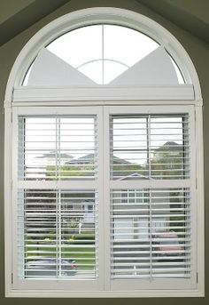 arched window before with blinds and after with 87817