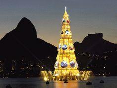 árvore de Natal da Lagoa Rodrigo de Freitas - rj