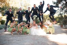 silly bridal party group shot