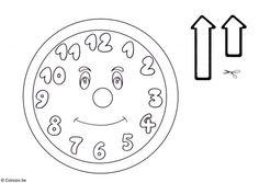 Preschool coloring clock