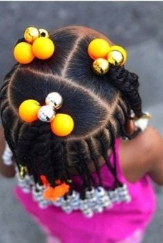 Looking for the easiest and quickest natural hairstyle for your African american. - Kids Hair - Looking for the easiest and quickest natural hairstyle for your African american toddler? Toddler Braided Hairstyles, Lil Girl Hairstyles, Black Kids Hairstyles, Natural Hairstyles For Kids, Box Braids Hairstyles, Hairstyle Ideas, Toddler African American Hairstyles, African Baby Hairstyles, Children Hairstyles