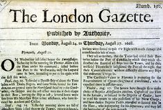 'Published by Authority': The Oxford Gazette later became The London Gazette, first published on 5 February and included this edition dated August The London Gazette, English Newspapers, Vintage Newspaper, The Turk, Auction, World, August 24, Regency Era, Georgian