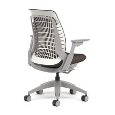 Allsteel Mimeo chair shown in Meteor mesh with 4-D arms, designed in partnership with Bruce Fifield of Studio Fifield, office furniture, office chair, seating, #MeetMimeo