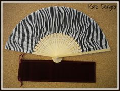 Bamboo Hand Fan and faux suede cover at www.handfansbykatedengra.com Hand Fans by Kate Dengra - A Trend is Unfolding