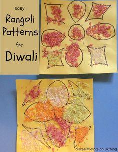 easy rangoli patterns for Diwali