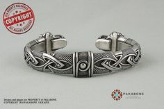 Viking Bracelet With Wolf's Head Scandinavian Bracelet