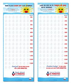 Use our Read Aloud Tracker this summer and see how reading aloud every day for 15 minutes adds up!
