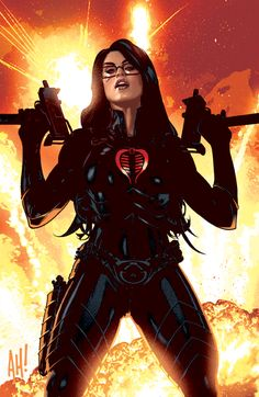 Baroness by AdamHughes -  This cover was rejected due to its open mouth (see Adam Hughes on Deviantart.com). He changed the mouth and ultimately that cover was approved.