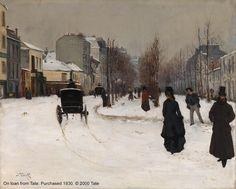 Norbert Goeneutte's 'The Boulevard de Clichy under Snow'