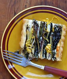Ramp and Mushroom Tart Recipe | SAVEUR