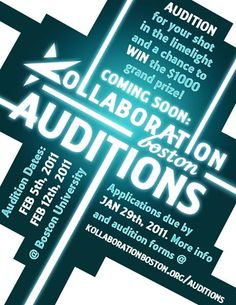 Kollaboration Boston Auditions