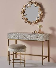 handcrafted bedroom vanity - Google Search Console Cabinet, Console Table, Best Interior, Home Interior Design, Gold Desk, Entryway Tables, Entryway Console, Indoor, Home Decor