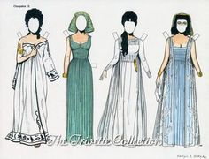 Liz Taylor's costumes to Cleopatra's paperdolls by Ralph Hodgdon