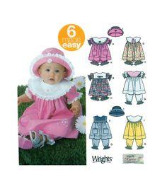 Simplicity 5626 Little Girl Dress, Pantaloon, Panties & Hat Pattern 6 Style Options - Jumper Sundress Sz: Newborn to 18 months UNCUT by FindCraftyPatterns on Etsy