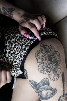 goldfish #leg #thigh #tattoos