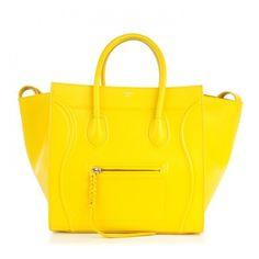 CELINE Supple Calfskin Medium Phantom Luggage Sun ❤ liked on Polyvore featuring bags and luggage