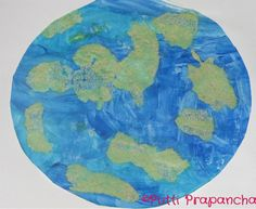 Salt, glue paint Earth by Putti's World
