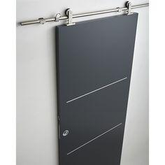 Syst me coulissant en applique manhattan porte bois porte coulissante porte coulissante bois - Systeme coulissant pour pose applique porte ...