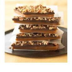 People love the Pecan Crunch my Mom and I make yearly....here is the recipe, or very close too.  I'm gonna have to make it without Mom this year since we moved.  Bummer.    Ghirardelli - Premium Chocolate and Chocolate Gifts