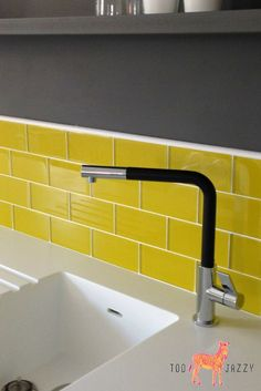 Make a brave, bold statement in your bathroom or kitchen with these bright & funky yellow glass metro tiles. Brand new to the UK, find these cutting edge products at amazing prices from Too-Jazzy.com.