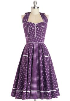 Boysenberry Buckle Dress. Baking away in the kitchen, you create yet another batch of your famous boysenberry buckle - but this one is special! #purple #modcloth