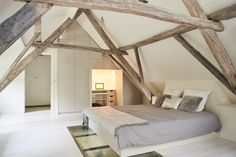 Bedroom In Attic For Attic Room Hotel Restaurant De Wolfsberg Attic Room ., Bedroom In Attic For Attic Room Hotel Restaurant De Wolfsberg Attic Room . Loft Conversion, Small Space Interior Design, Home Bedroom, Bedroom Design, Bedroom Loft, Barn Bedrooms, House Interior, Bedroom, Dream Rooms