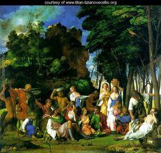 Feast of the Gods - Tiziano Vecellio (Titian) - www.titian-tizianovecellio.org