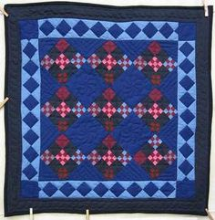 Amish Miniature Nine Patch in Nine Patchwork Quilt Wall Hanging by Mary S. and Mary Grace
