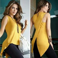 Women Sleeveless Round Neck Slim Fit Irregular Patchwork Blouse Vest Tank Tops solid color shirts | Wish Diy Kleidung, Diy Vetement, Couture, Summer Shirts, Summer Tops, Casual Summer, Style Summer, Mode Inspiration, Fashion Inspiration