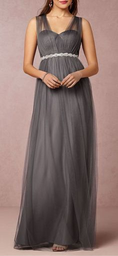 Annabelle Dress in Gray...So many ways to weat it! So perfect for a bridesmaids dress, multiple color choices, & they can shorten after for nights out on the town!
