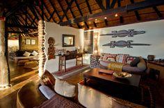 Wonderful African decor at Tongabezi Safari Lodge