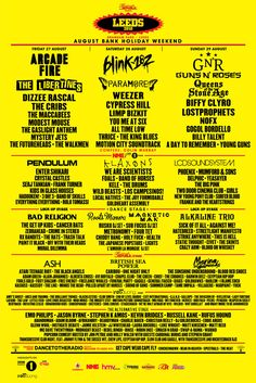 Reading Festival 2020 will take place 28 - August bank holiday weekend. Weekend Tickets and Extras are on sale now.