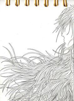 tangeled hair  sketchbook